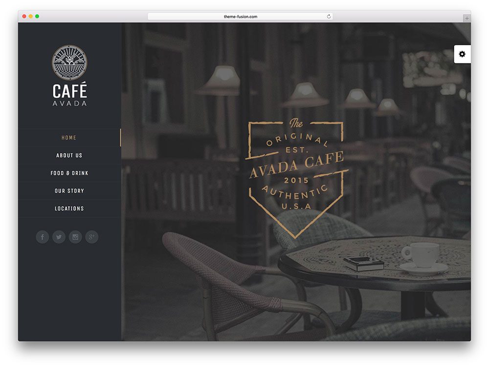 avada - coffee shop wordpress themes