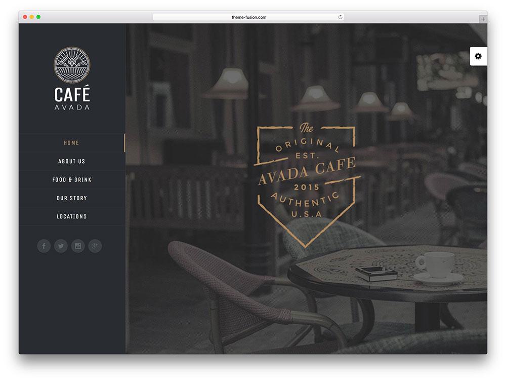 avada - coffee shop wordpress themes