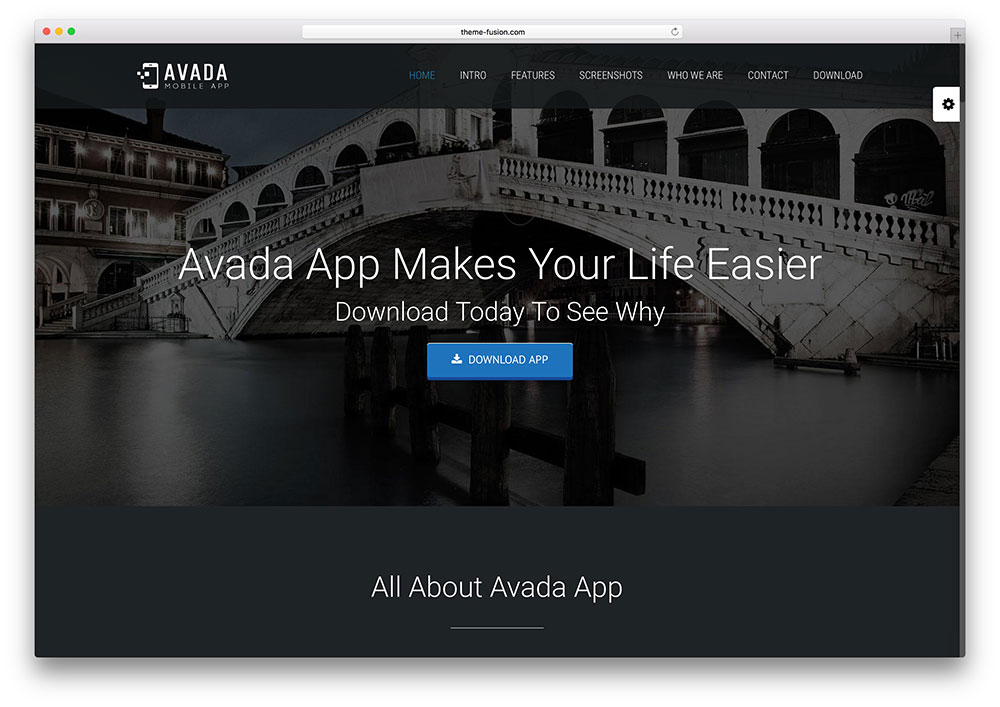 avada - mobile app landing page theme