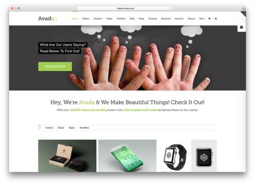 Avada Theme Examples