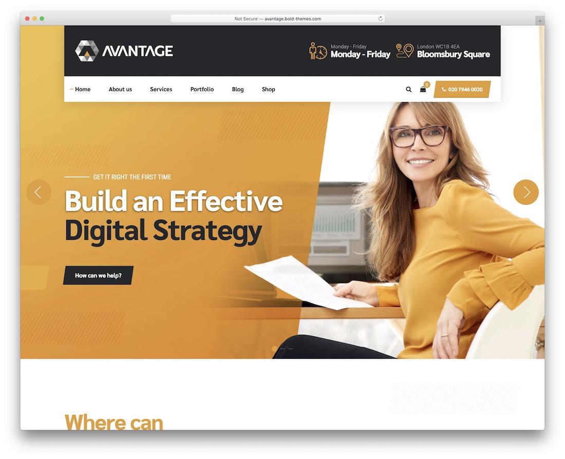 avantage business website template