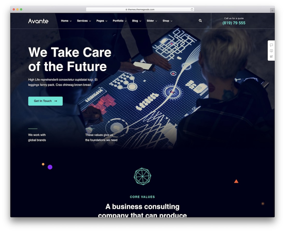 avante it company wordpress theme