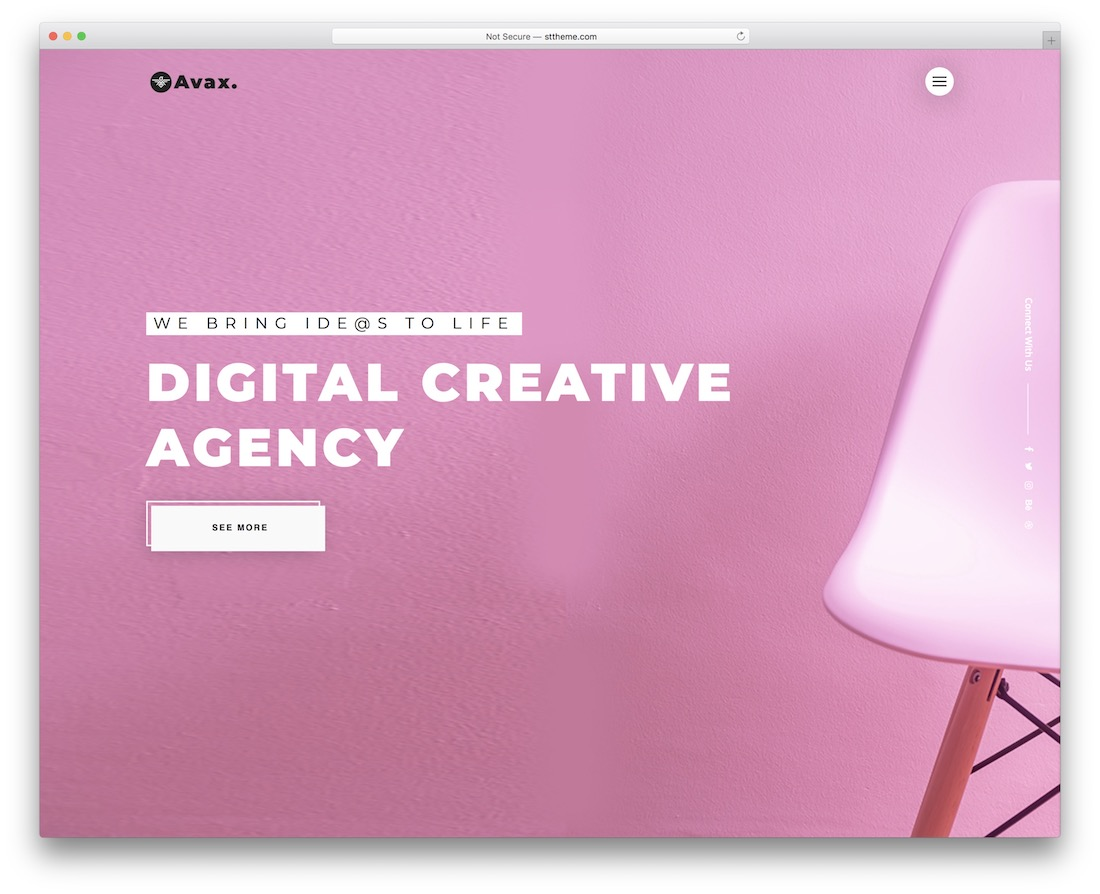 avax wordpress theme for designers