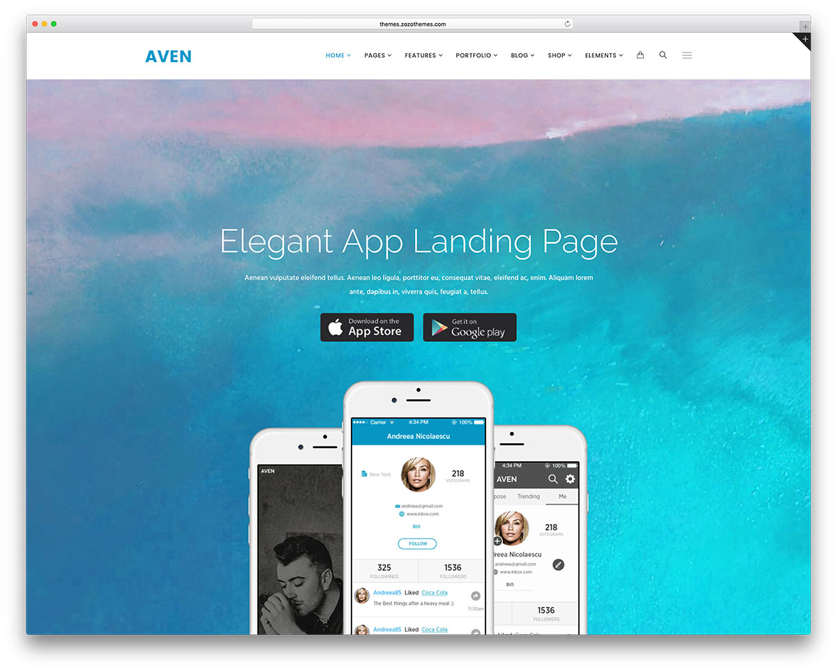 aven-app-landing-pag-website-template
