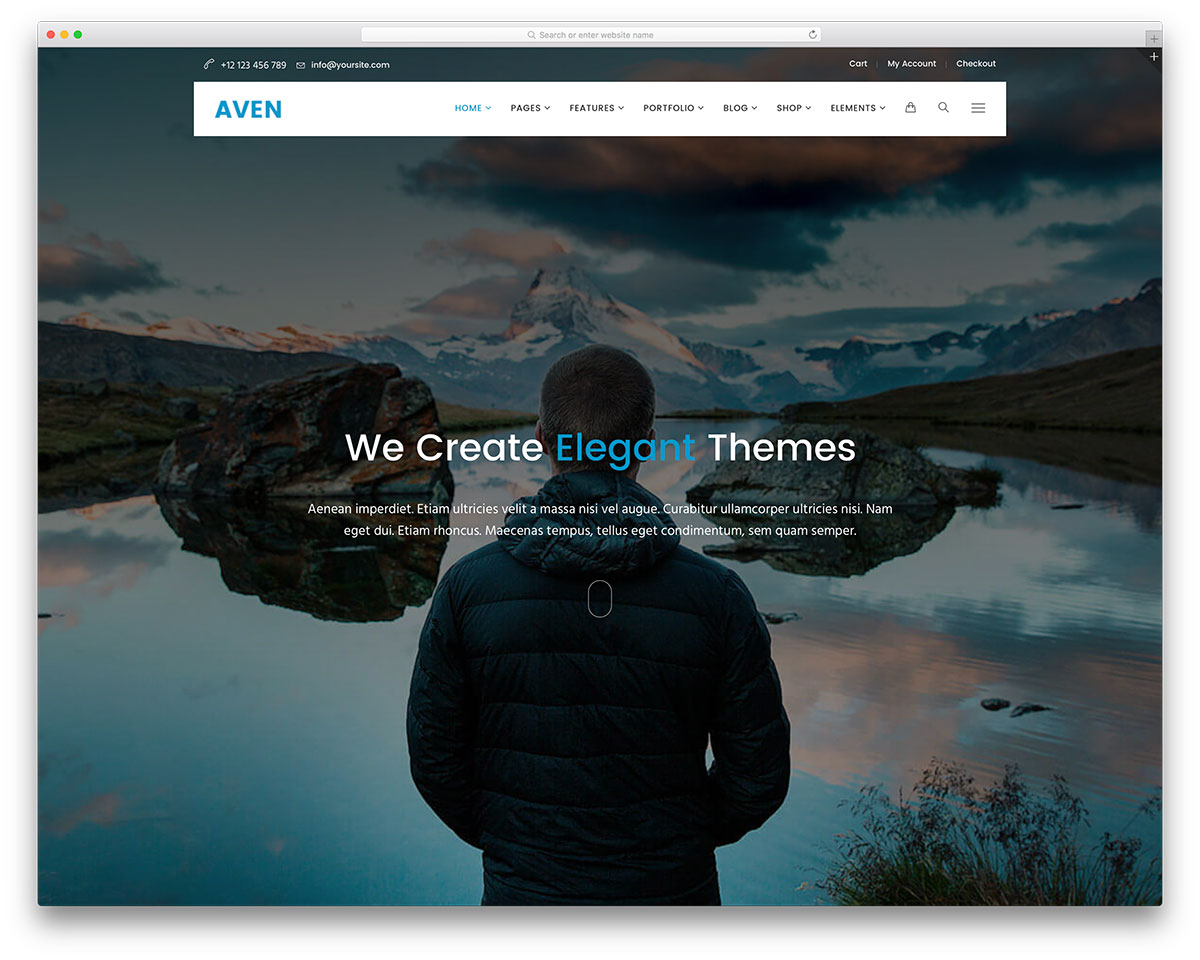 aven-fullscreen-multipurpose-wordpress-template