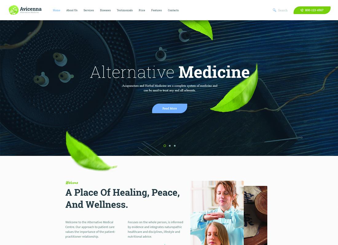 Avicenna - Alternative Medicine WordPress Theme