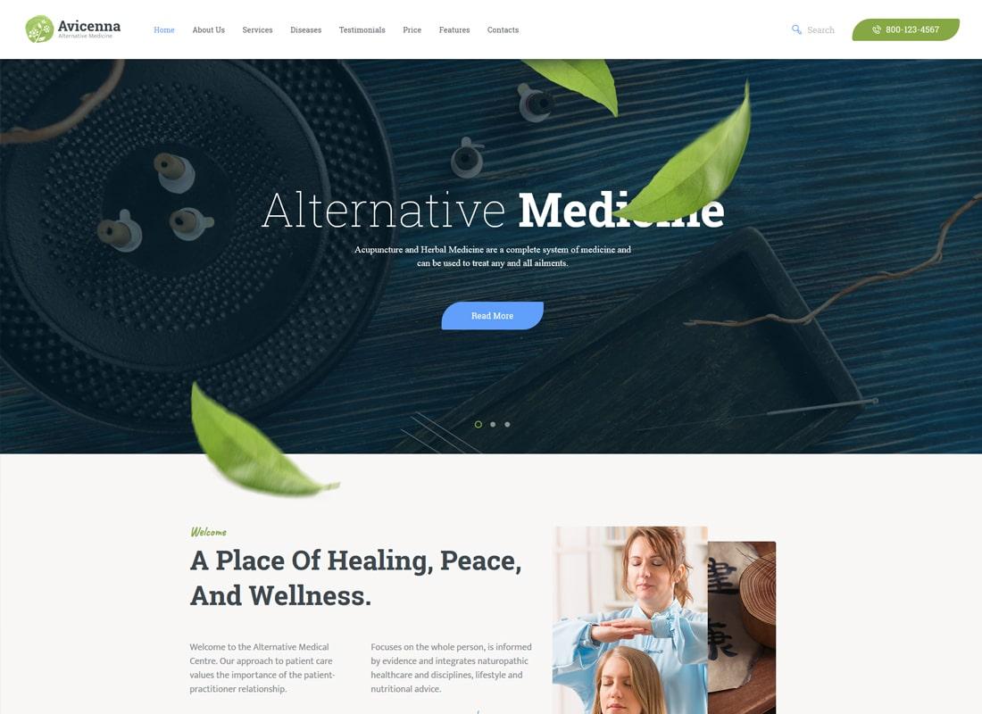 Avicenna | Alternative Medicine WordPress Theme