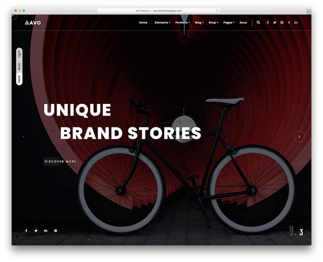 avo creative wordpress theme