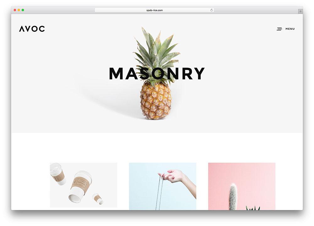 avoc-masonry-grid-style-photography-template