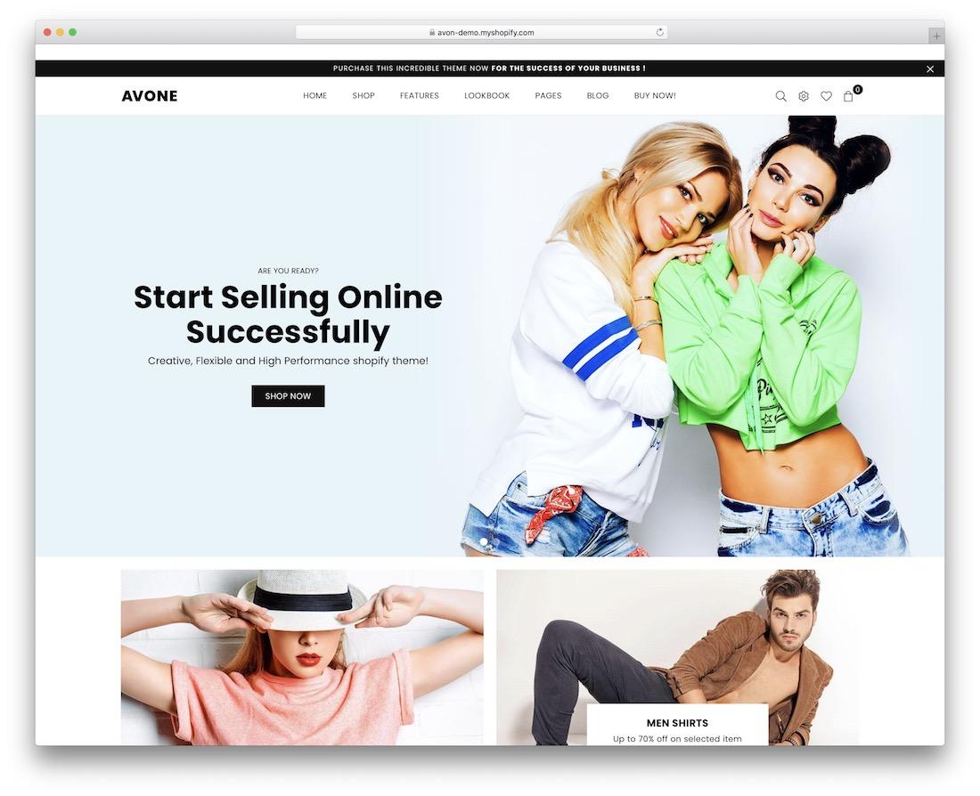 avone responsive shopify theme