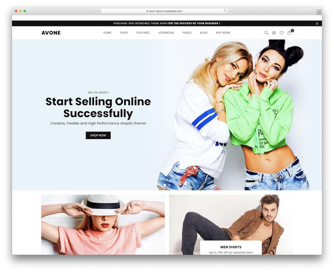 avone shopify landing page theme