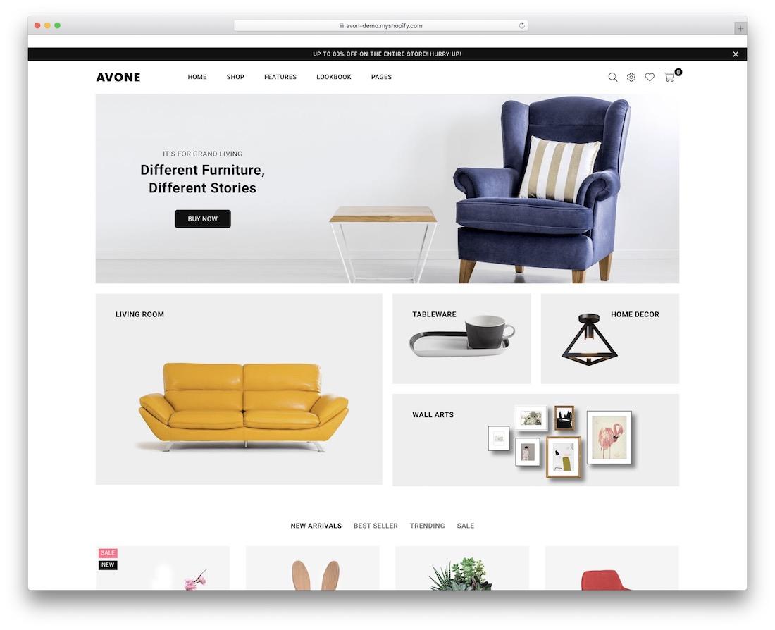 avone shopify real estate theme