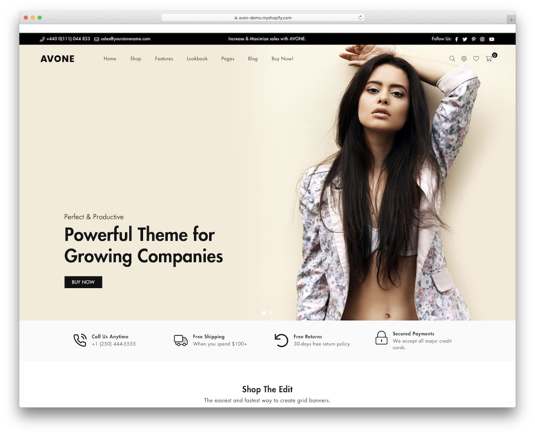 avone shopify subscription theme