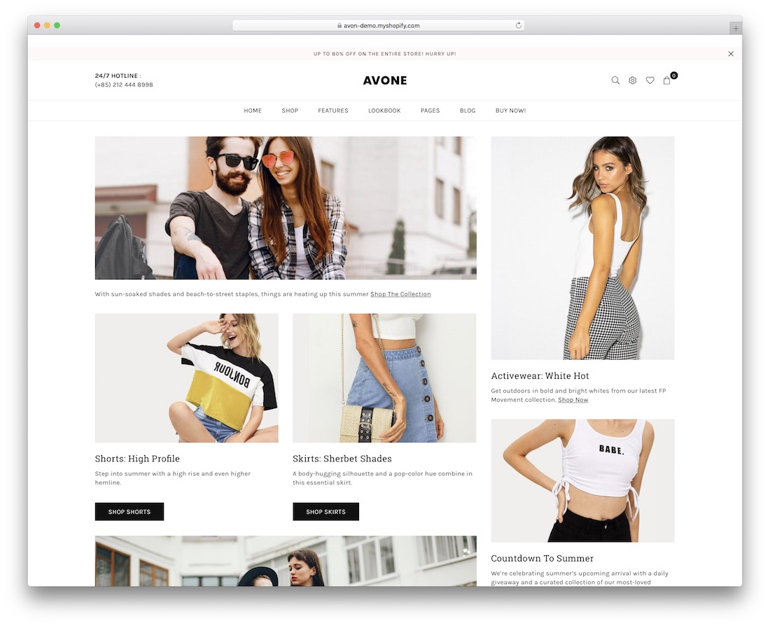 avone shopify theme for t-shirts
