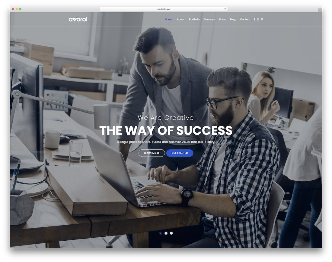 avorol interactive website template