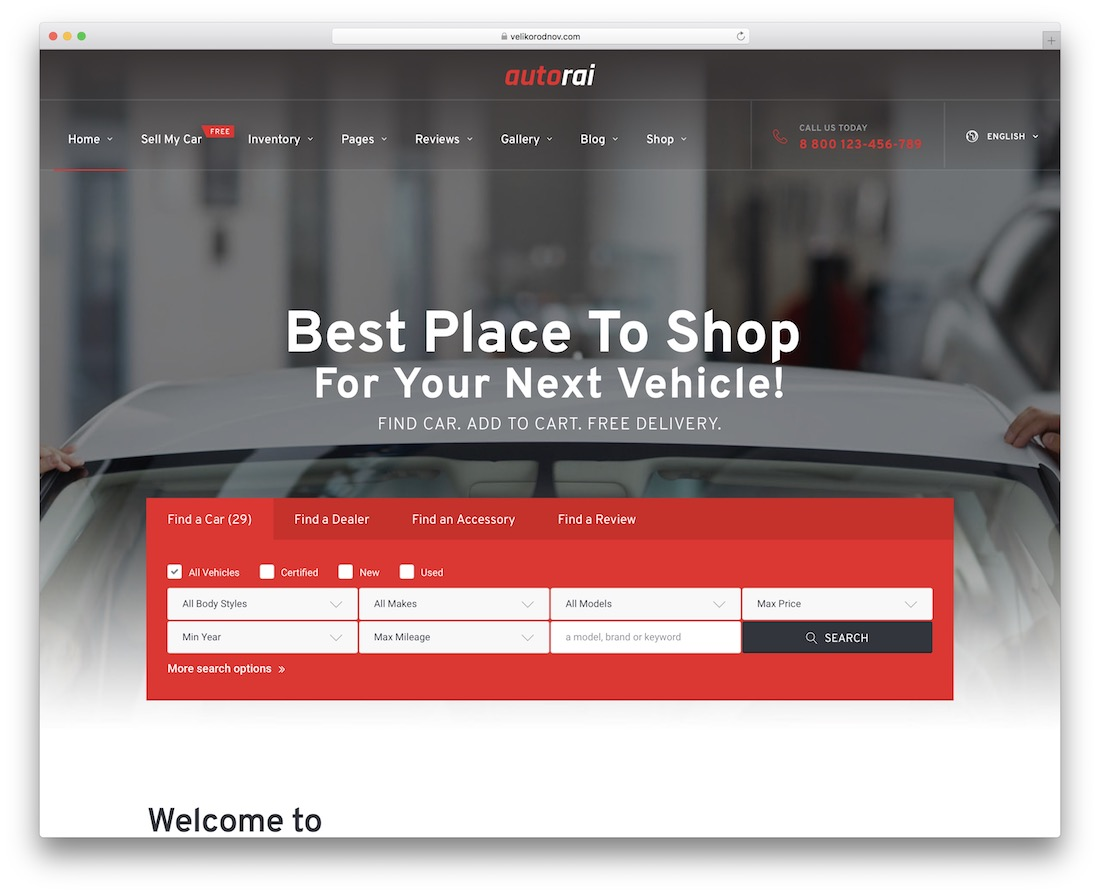 avtorai car dealer wordpress theme