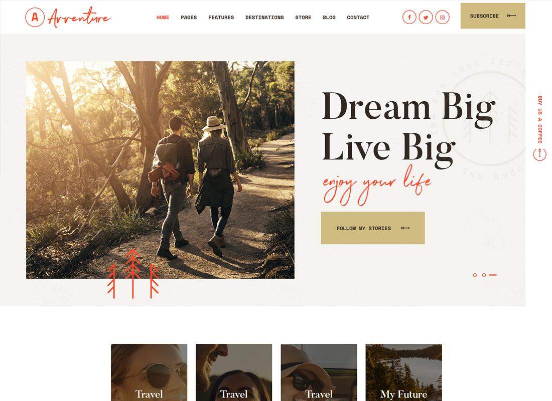 Avventure - Personal Travel & Lifestyle Blog WordPress Theme
