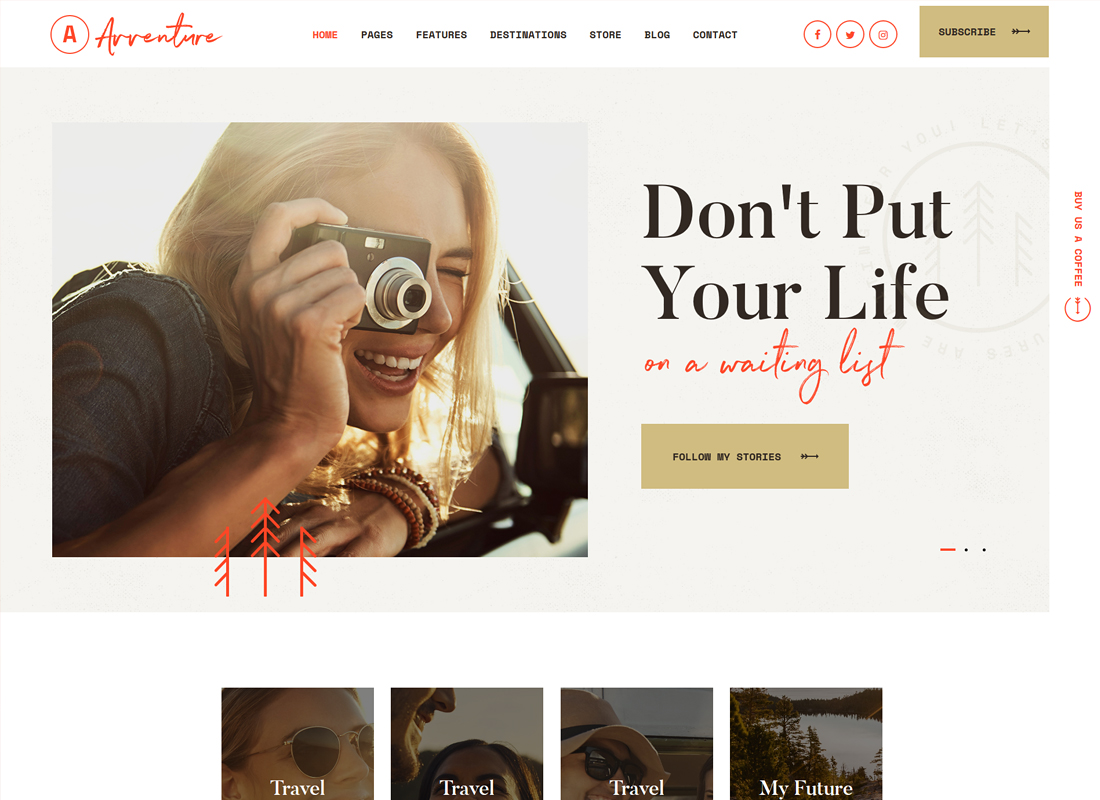 Avventure - Personal Travel & Lifestyle Blog WordPress Theme