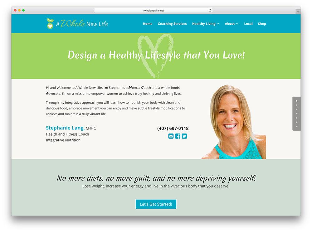 awholenewlife-healthy-lifestyle-website-on-divi