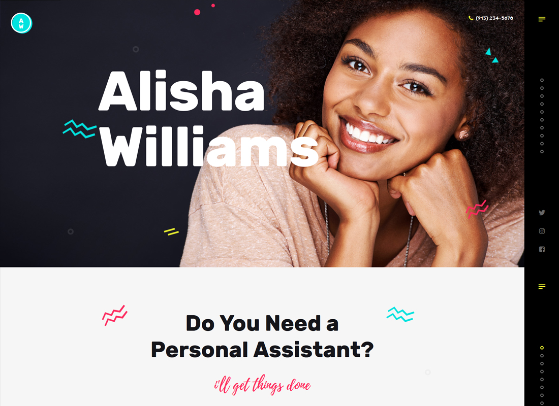 A.Williams | A Personal Assistant & Administrative Services WordPress Theme