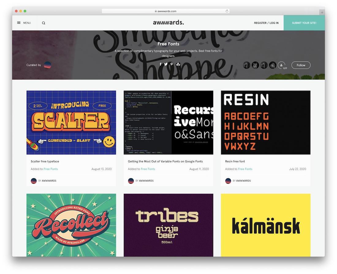 awwwards fonts