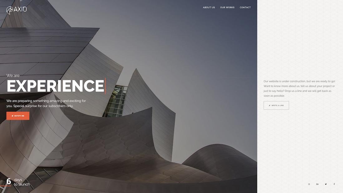 axio website template