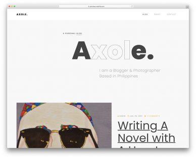 Axole Website Template