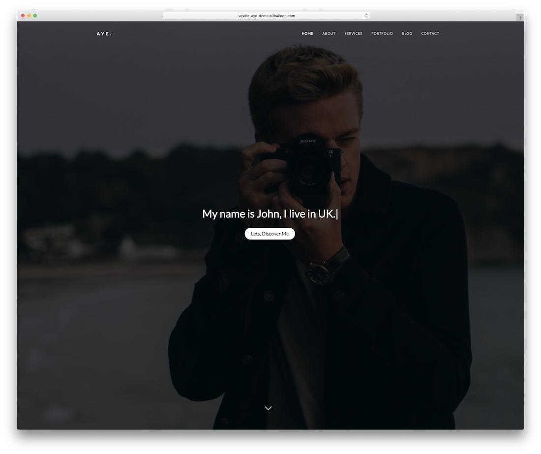 aye personal website template