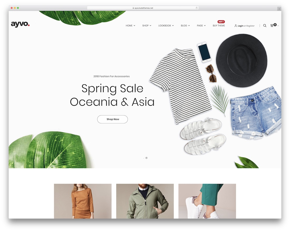 ayvo flat design wordpress theme