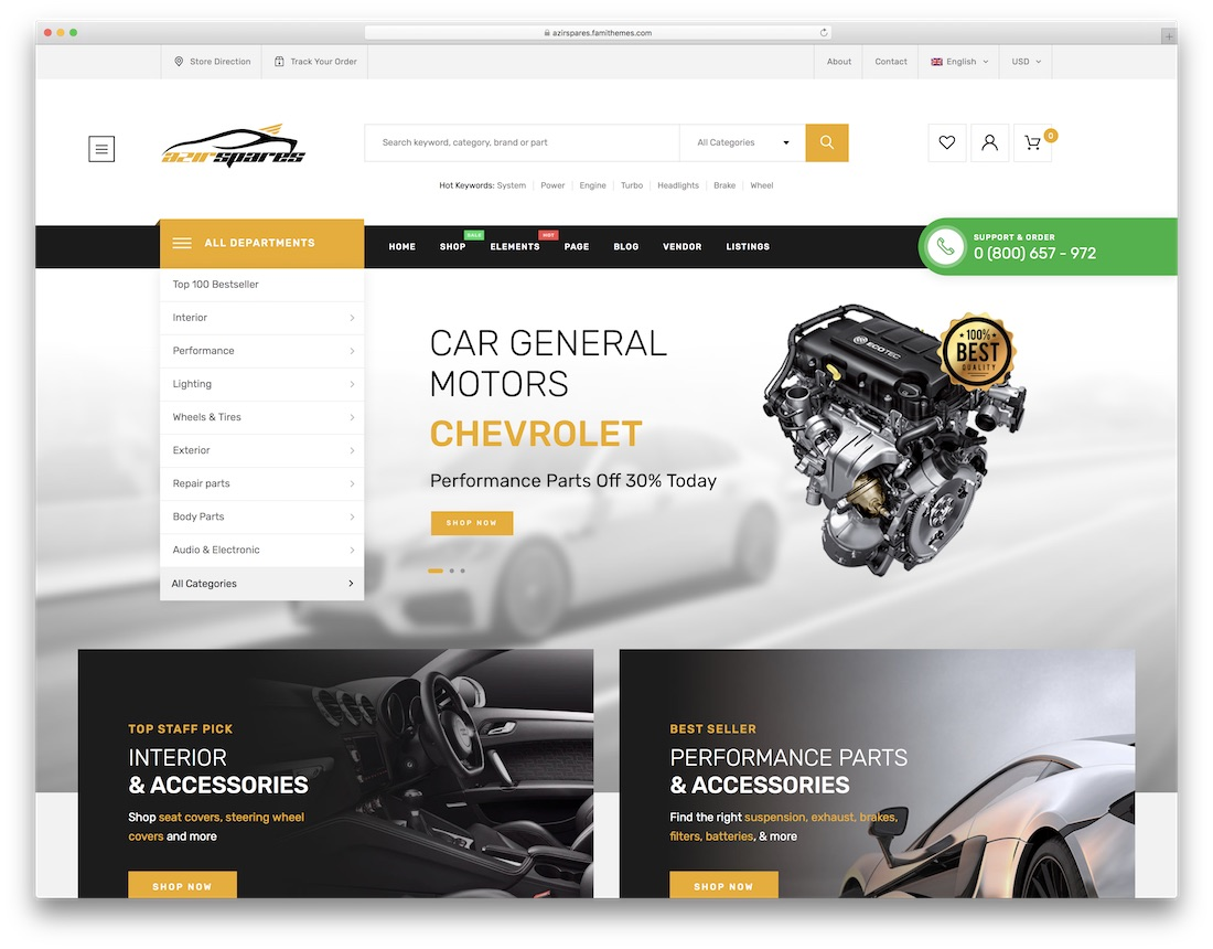 azirspares automotive wordpress theme