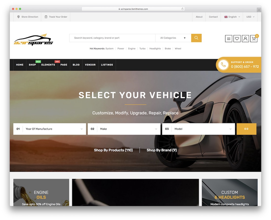 azirspares wordpress theme