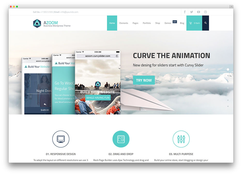 50 best wordpress corporate business themes of 2018 colorlib azoom multipurpose corporate theme flashek Images