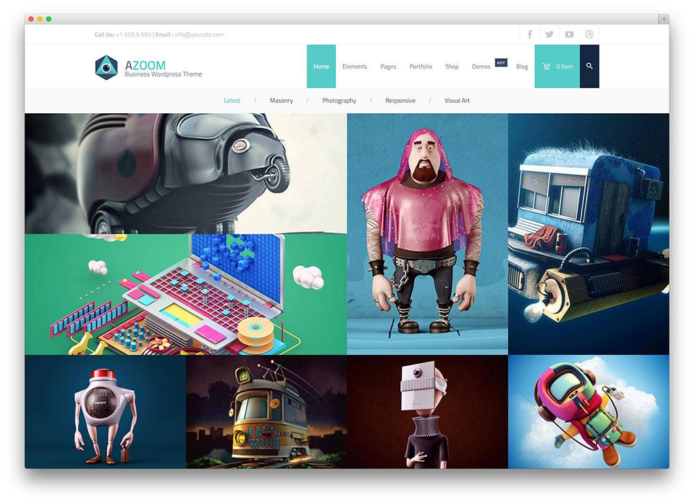 azoom - minimal portfolio theme