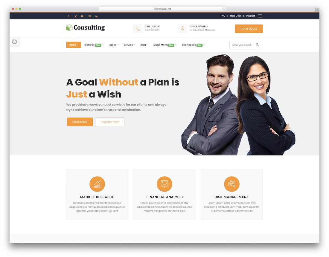 b consulting website template