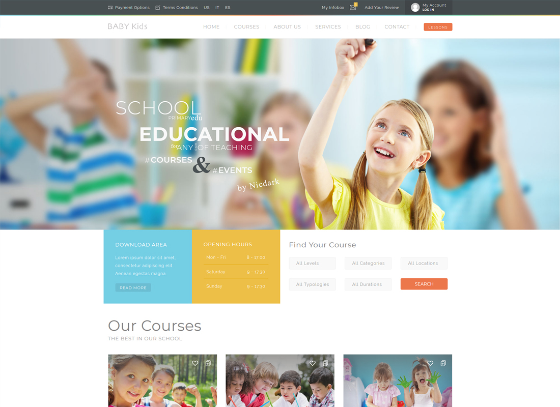 Baby Kids | Education Primary School For Children WordPress Theme