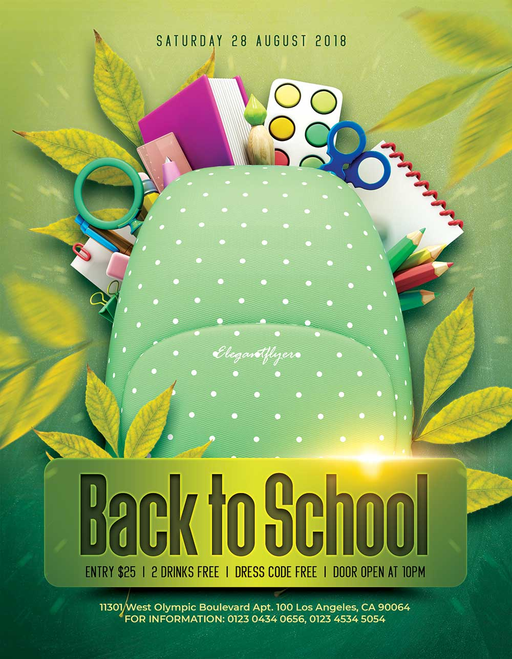 back to school flyer mockup