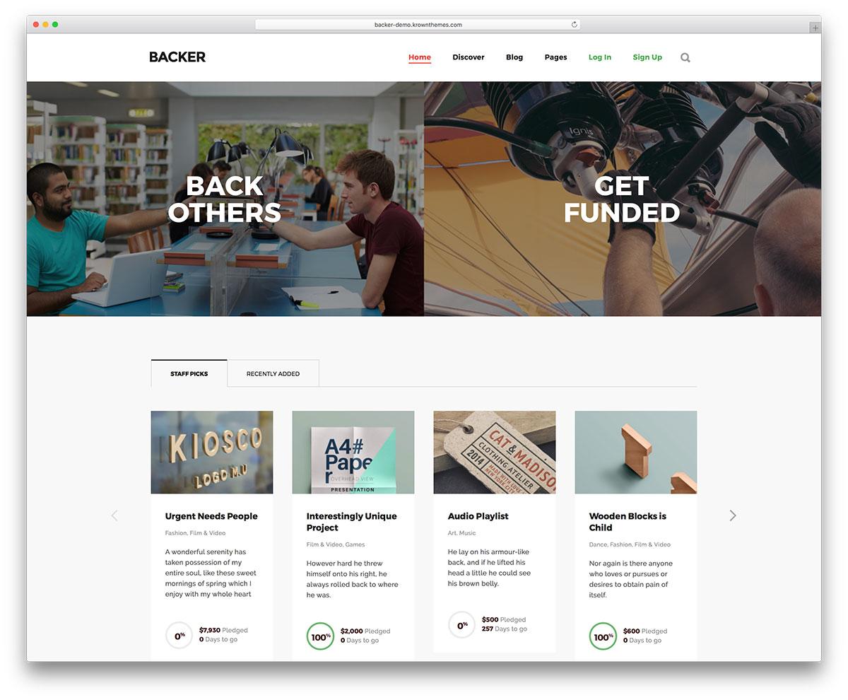 Best Crowdfunding WordPress Themes To Create The Next