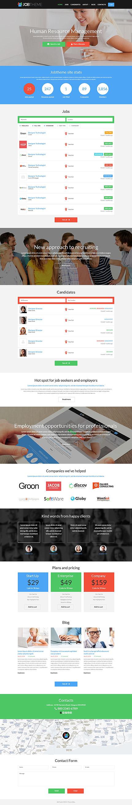 Job Portal Responsive WordPress Theme