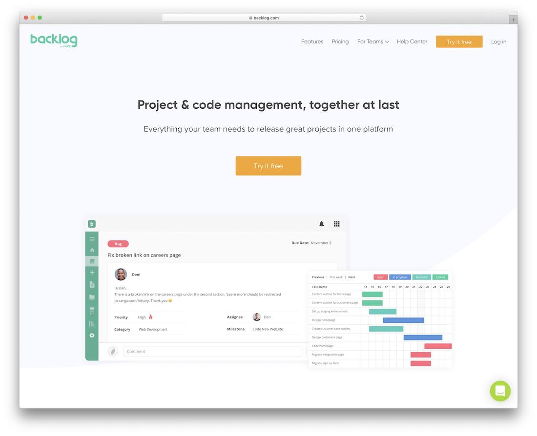 backlog bug tracking tool