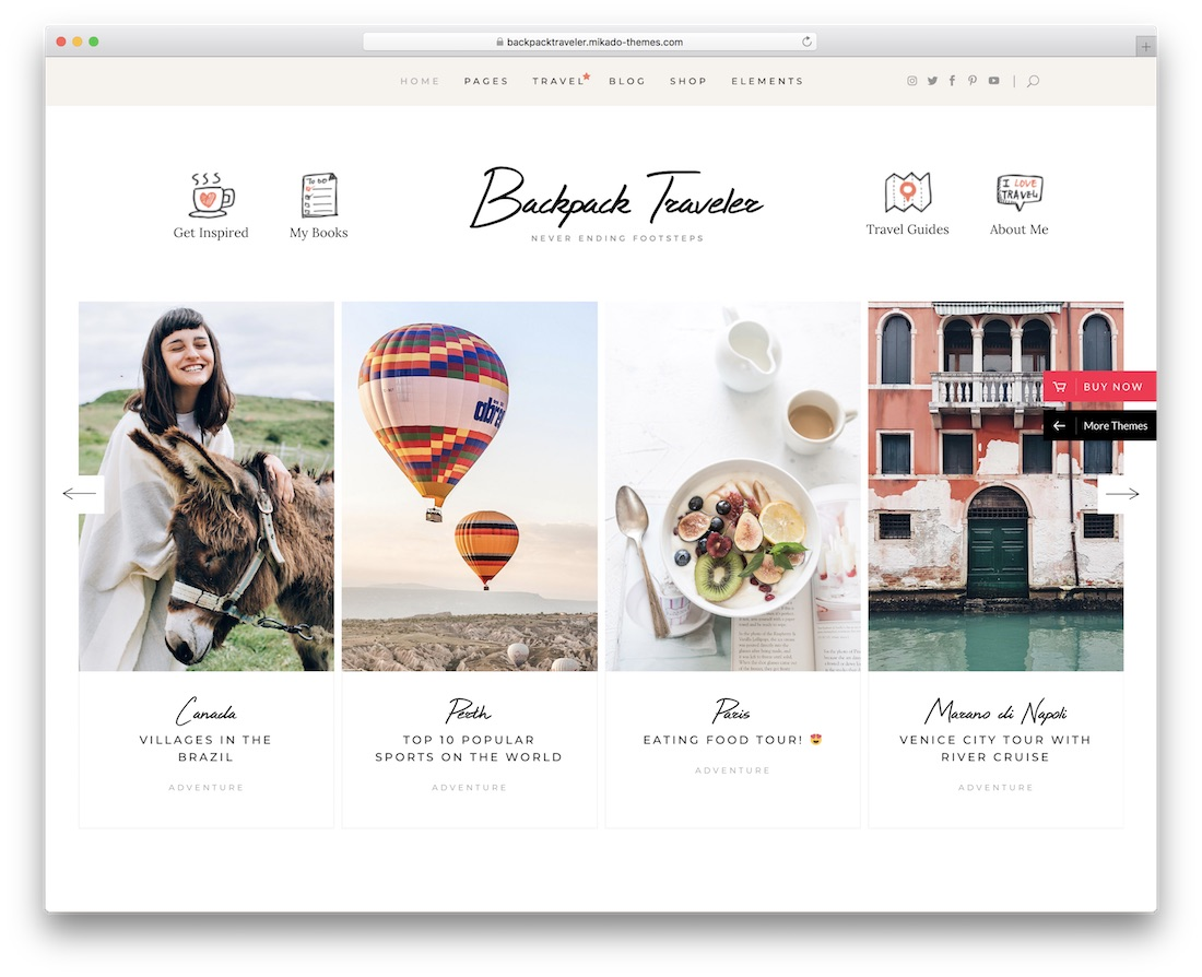 backpack traveler wordpress travel theme