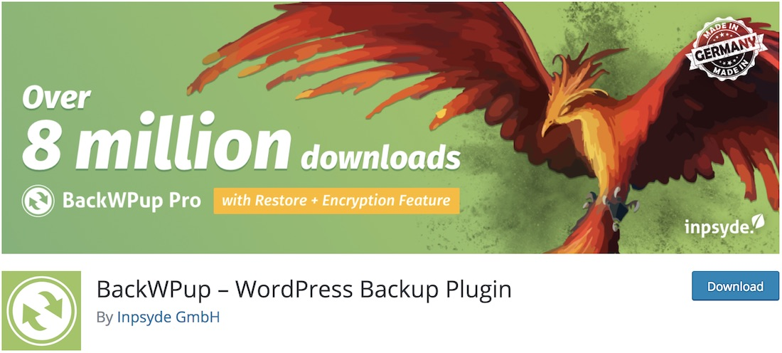 backwpup essential free wordpress plugin