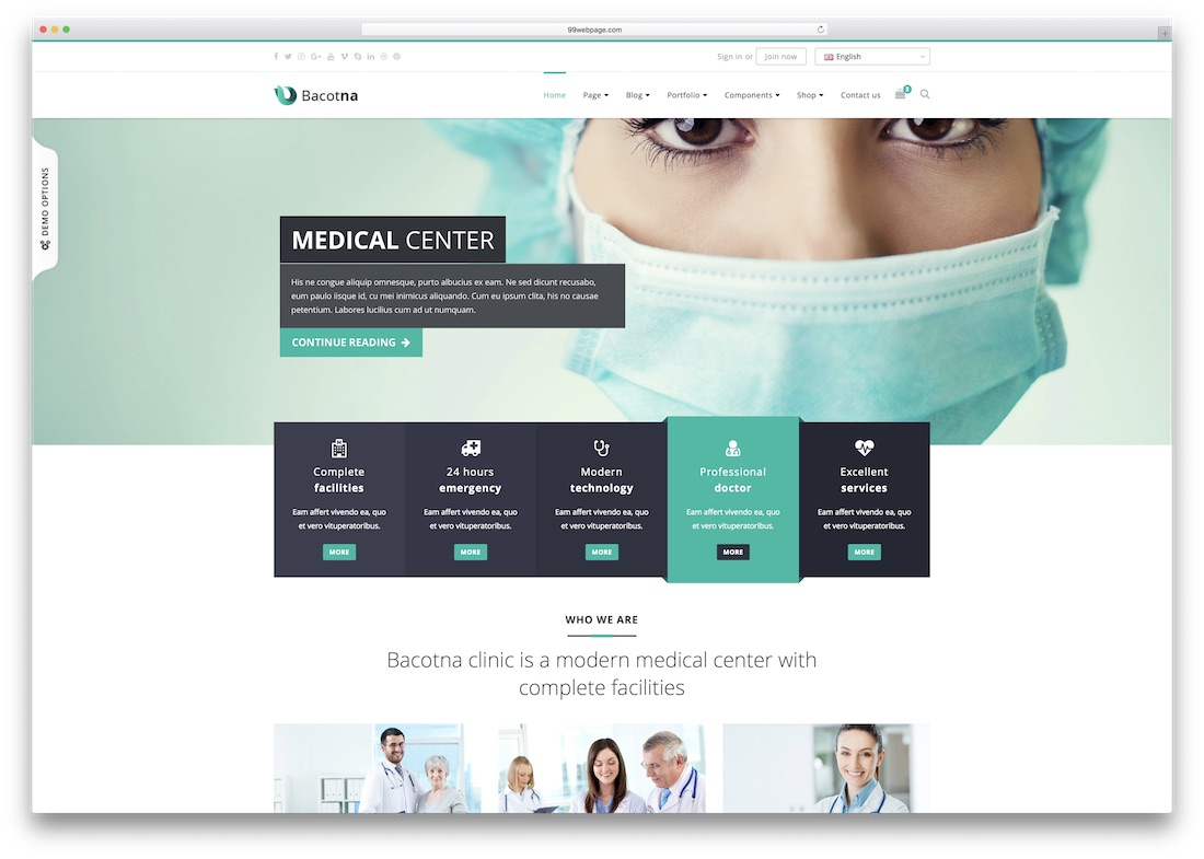 baconta medical website template