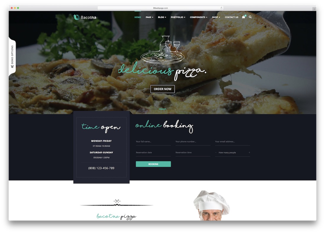 bacotna html5 website template