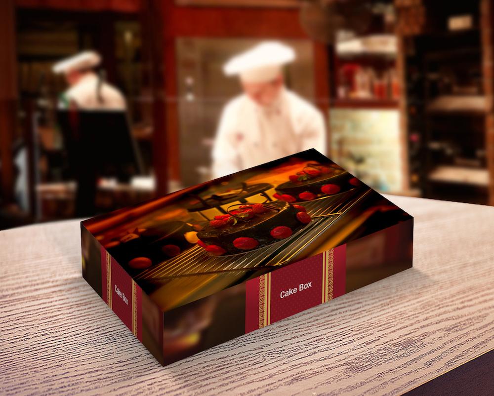 Maquette d'emballage de boîte de boulangerie