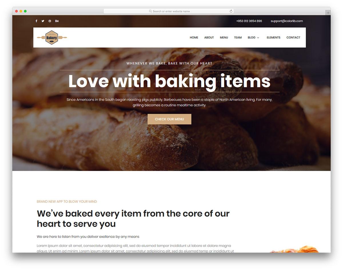 Скачать бесплатно html шаблон Bakery