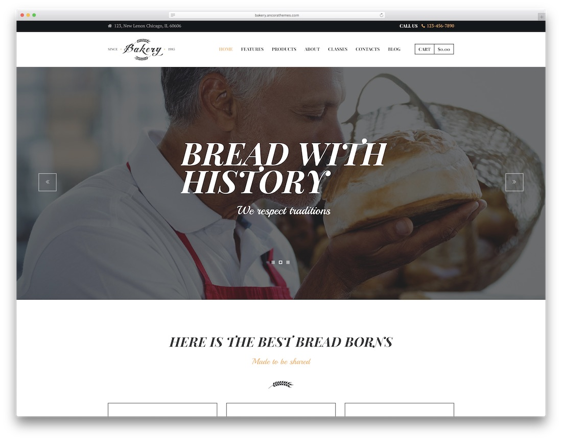 bakery pizza house wordpress theme