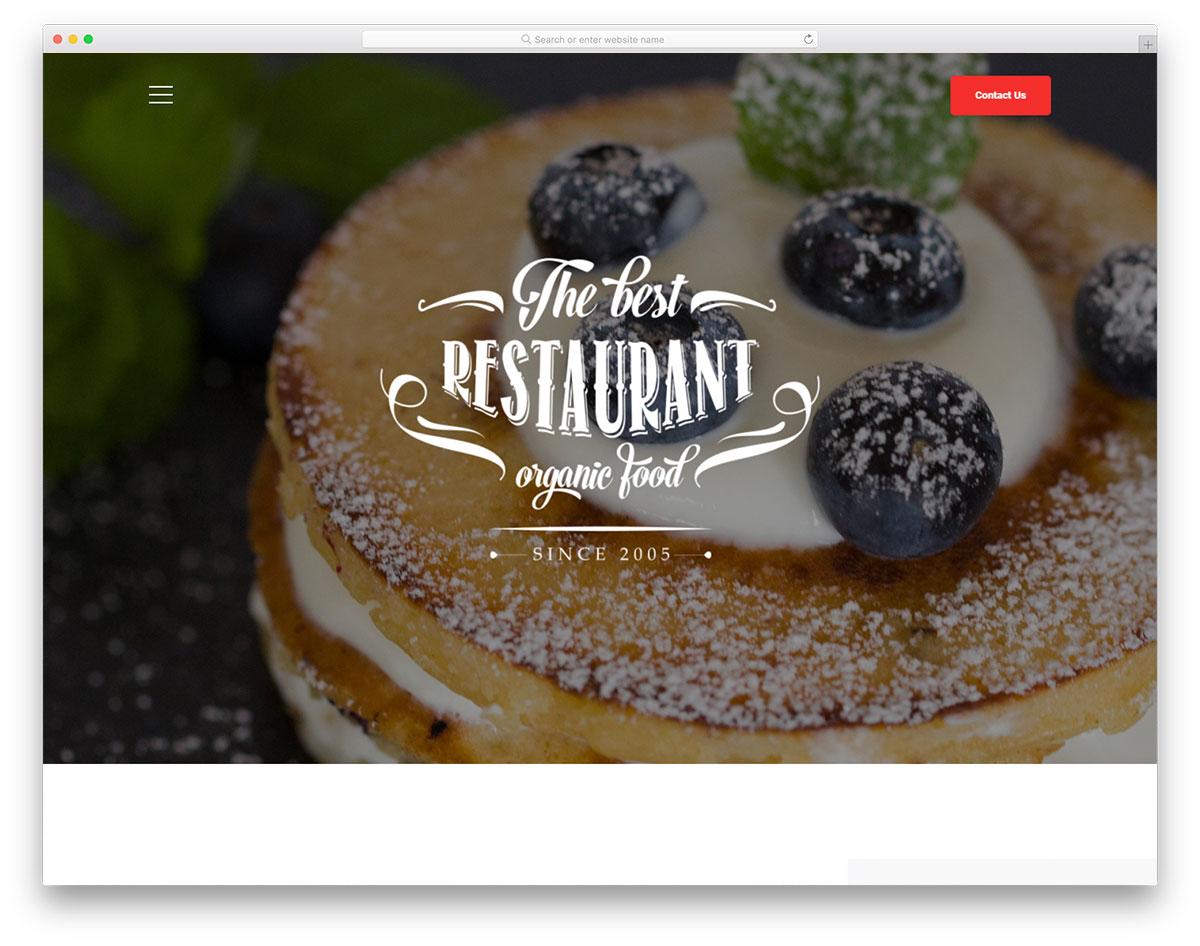Скачать бесплатно html шаблон Bakery2