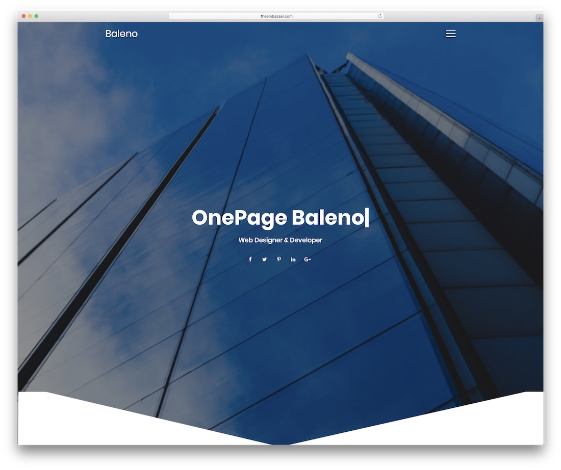baleno simple website template