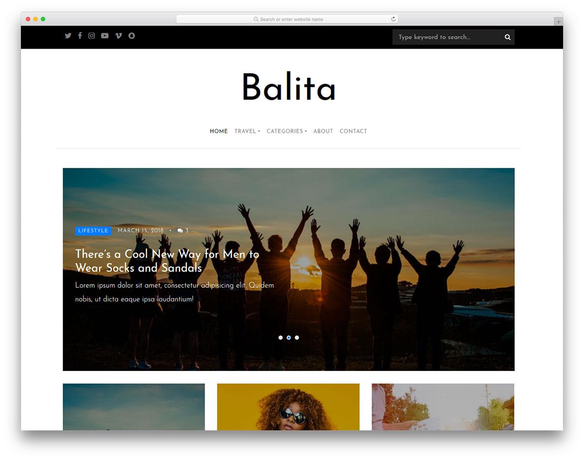Balita Free Template