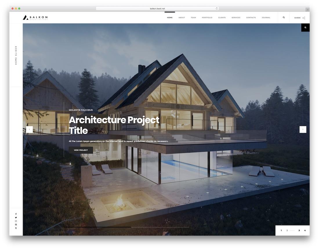 balkon interior design website template
